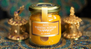 Jar of Banu's Turmeric Powder.