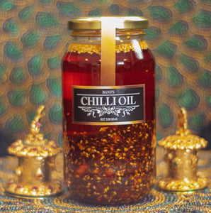 Banu's large 500ml chilli oil.