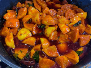 Banu's Lemon Pickle being made in a pot