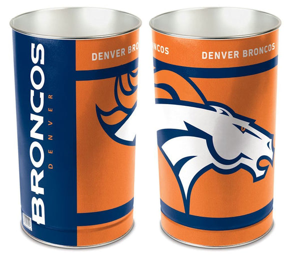 Denver Broncos Trash Can
