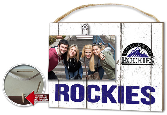 Colorado Rockies Clip It Weathered Logo Photo Frame