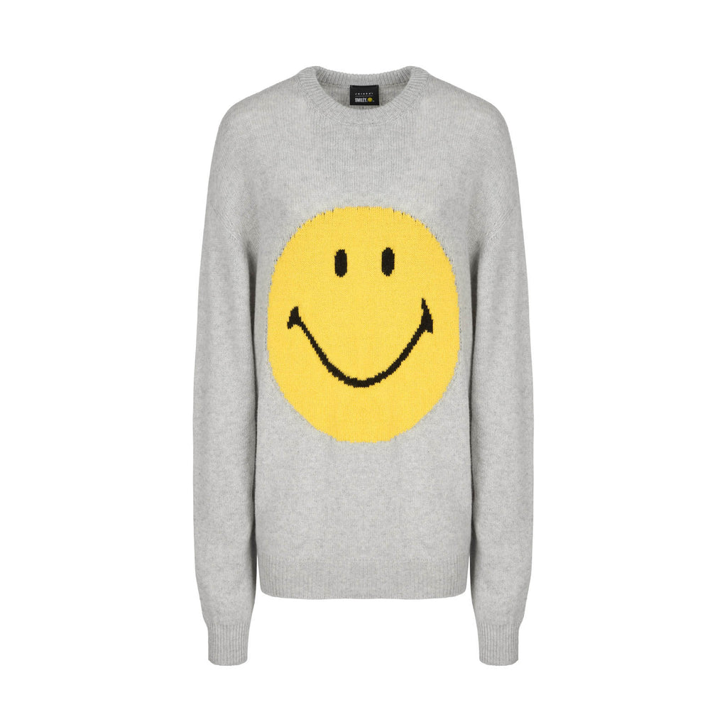 SMILEY GREY SWEATER