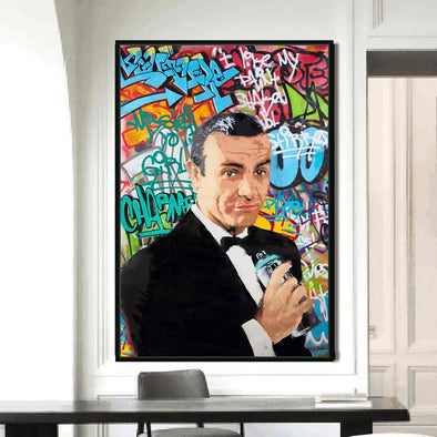 Graffiti Bond -  Limited Edition Print