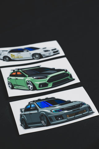 Circuit Demon Car-Toon Stickers