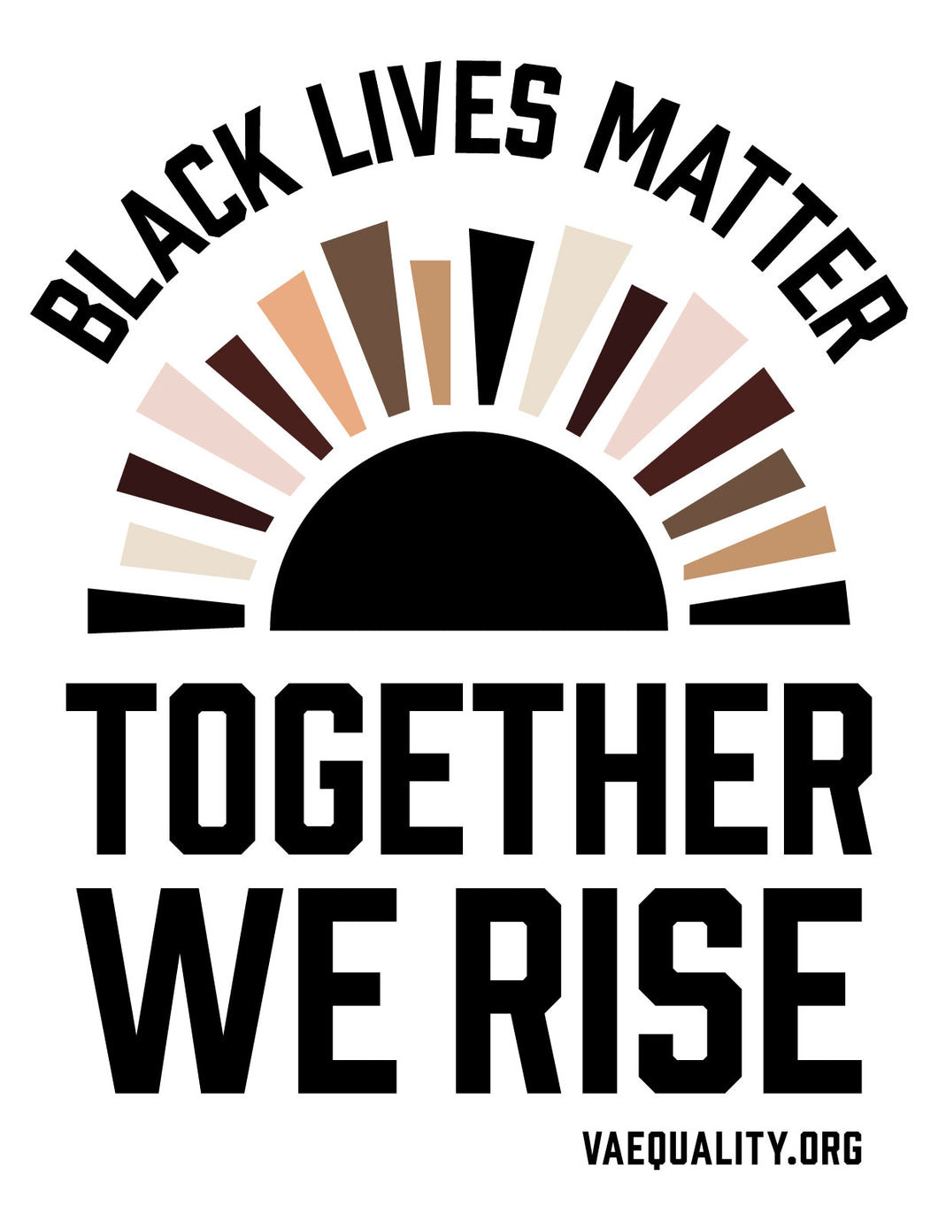 BLM Together We Rise Sticker