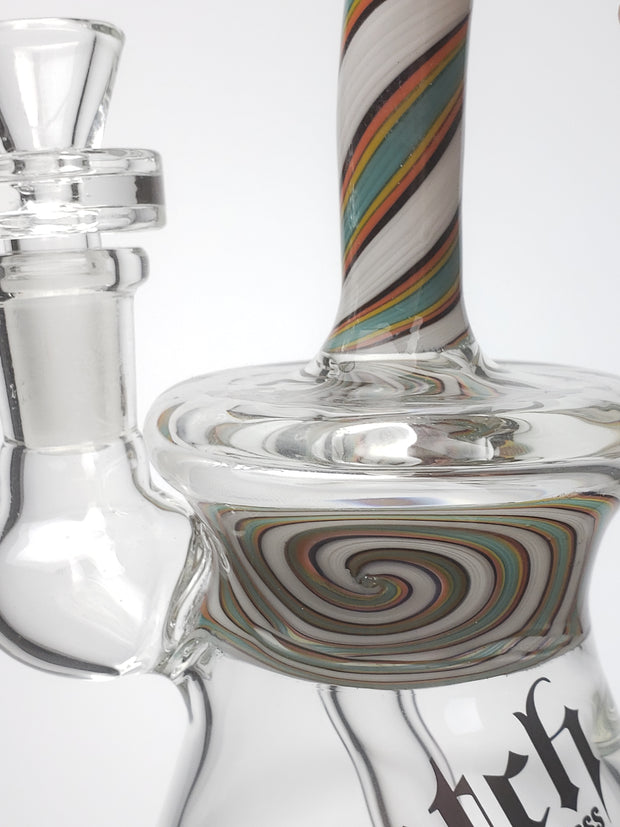 Dutch 8'' fat bottom bong with colored neck