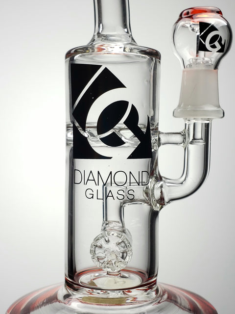 "Diamond Glass 8"" colored mini can"