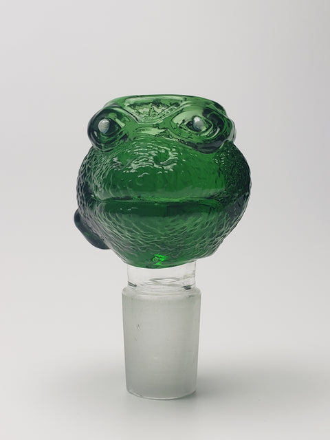 18mm Thick green glass turtle male bowl