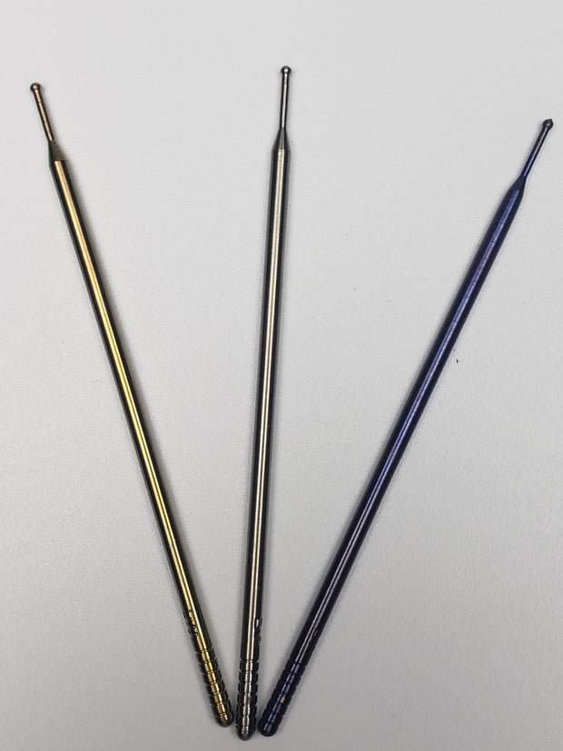Highly educated titanium ball point dabbers