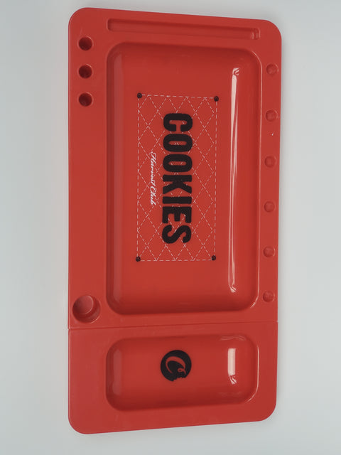 Cookies red medium rolling tray