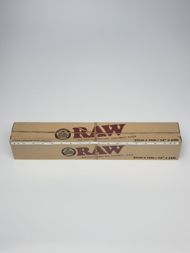 Raw dual coated parchment paper