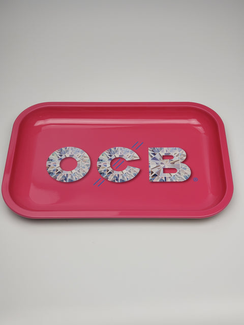 OCB medium pink rolling tray