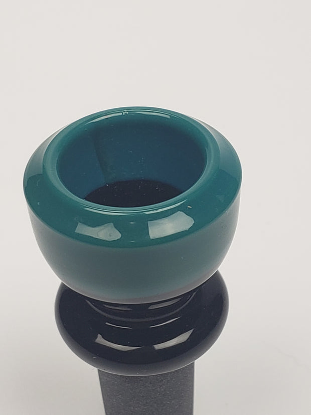 14mm male black and teal bowl