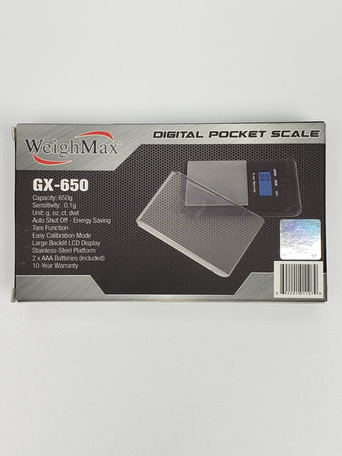 Weigh max gx-650 digital scale