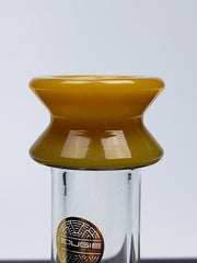 Bougie mini pinched beaker with yellow mouthpiece & shower-head
