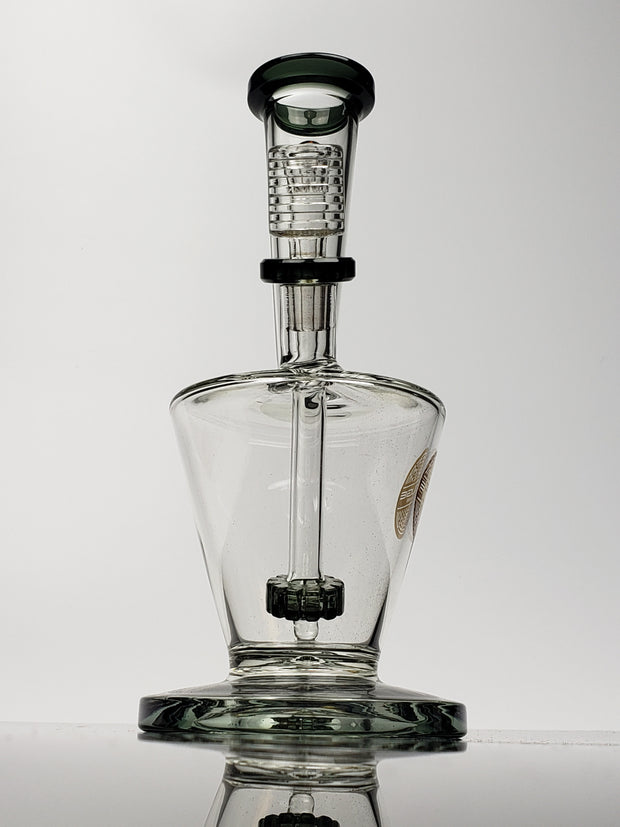"9"" Bougie vase with gray shower-head and mouthpiece"