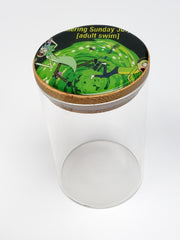 R&M bambo top glass jars