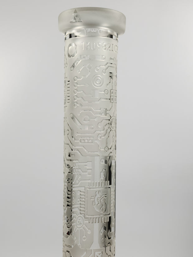 Milky Way 15'' frosted etched beaker