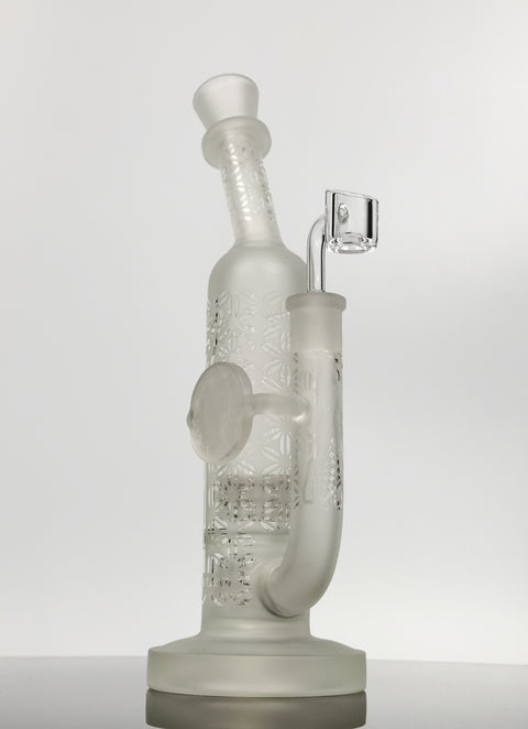 Double Matrix frosted can rig with girl etching