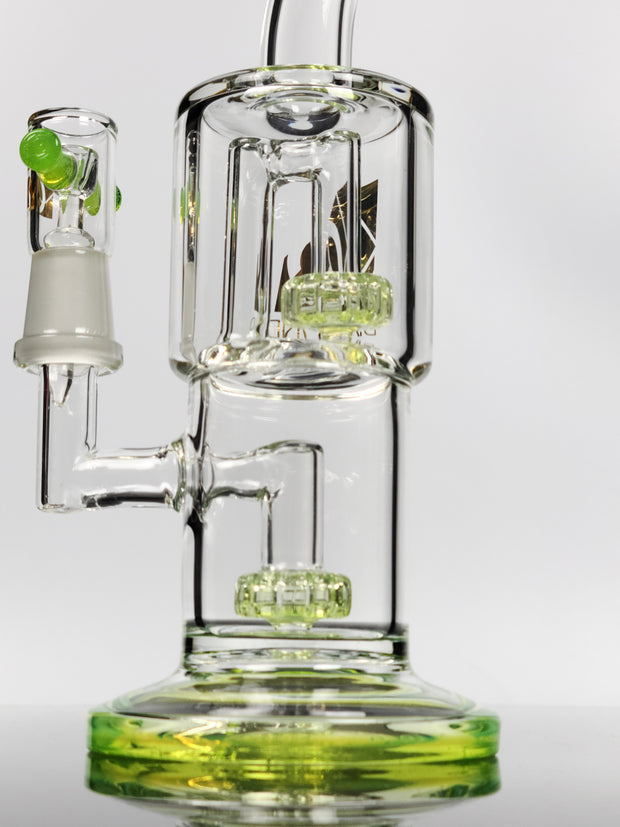 Diamond glass mini dual chamber can