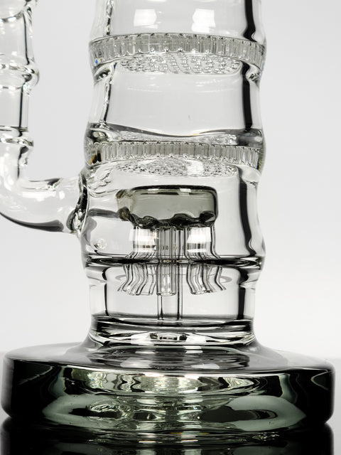 "13"" Lookah Glass triple perc can"