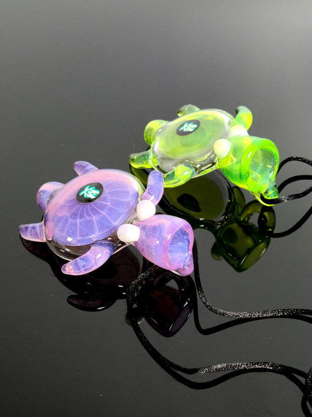 Mathematix purple and green slime turtle pendant pipe