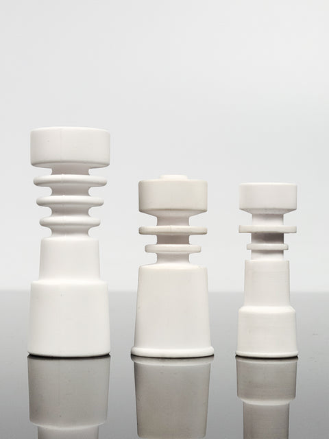 Ceramic domeless ringed nails