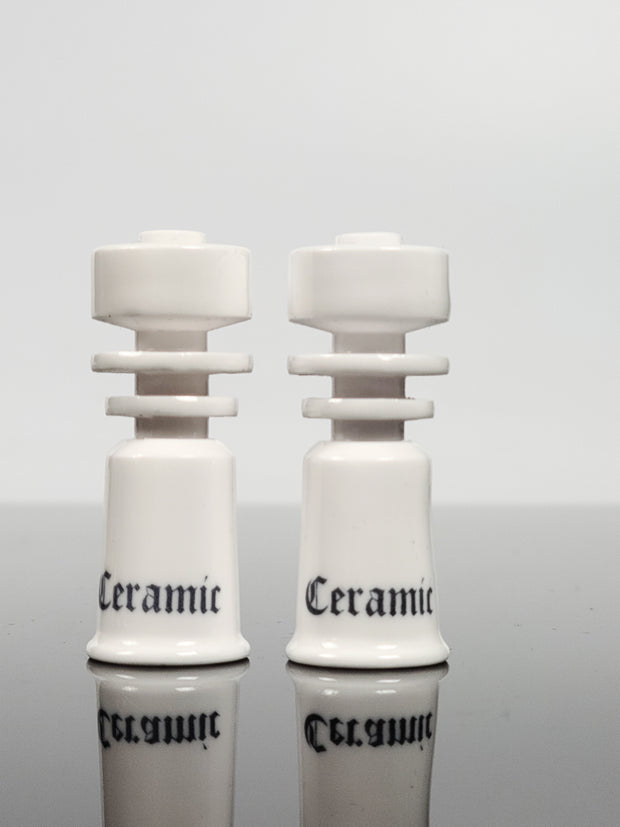"Ceramic domeless nails with ""Ceramic print"""
