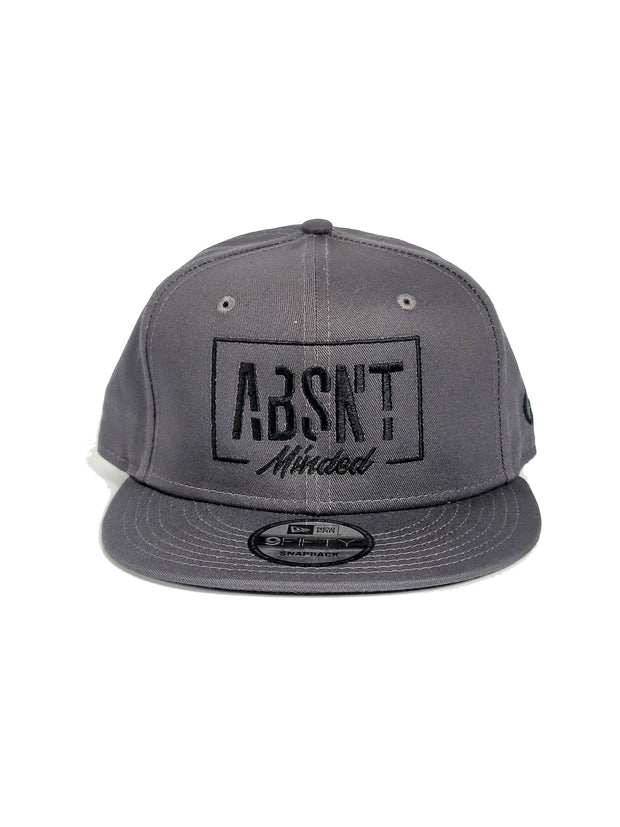 Absnt Minded Charcoal snapback hat