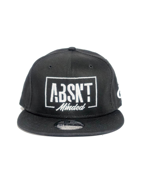 Absnt Minded black snapback hat