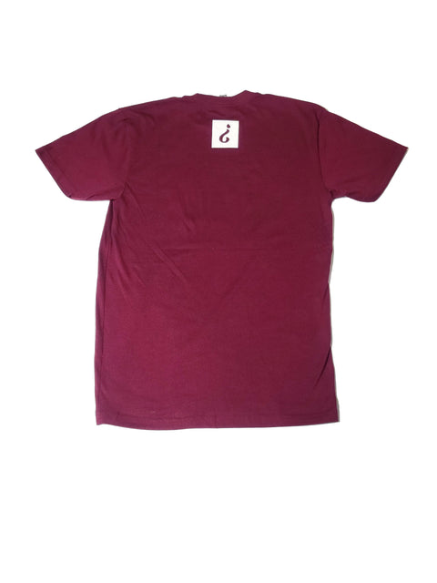 Absnt Minded burgundy t-shirt