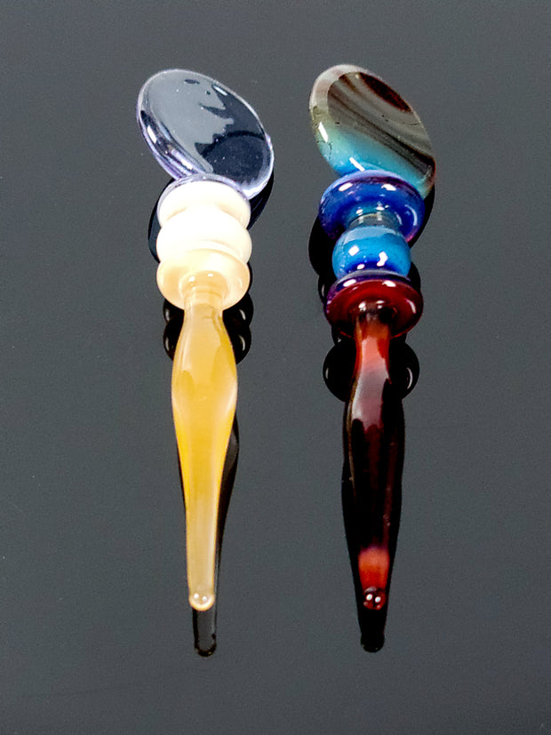 Glass worked dabbers by Andy Melts