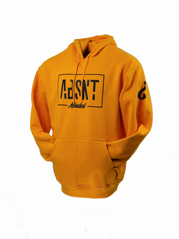 Absnt Minded Gold with Black print hoodie