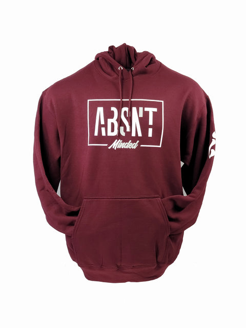 Absnt Minded Maroon with white print hoodie