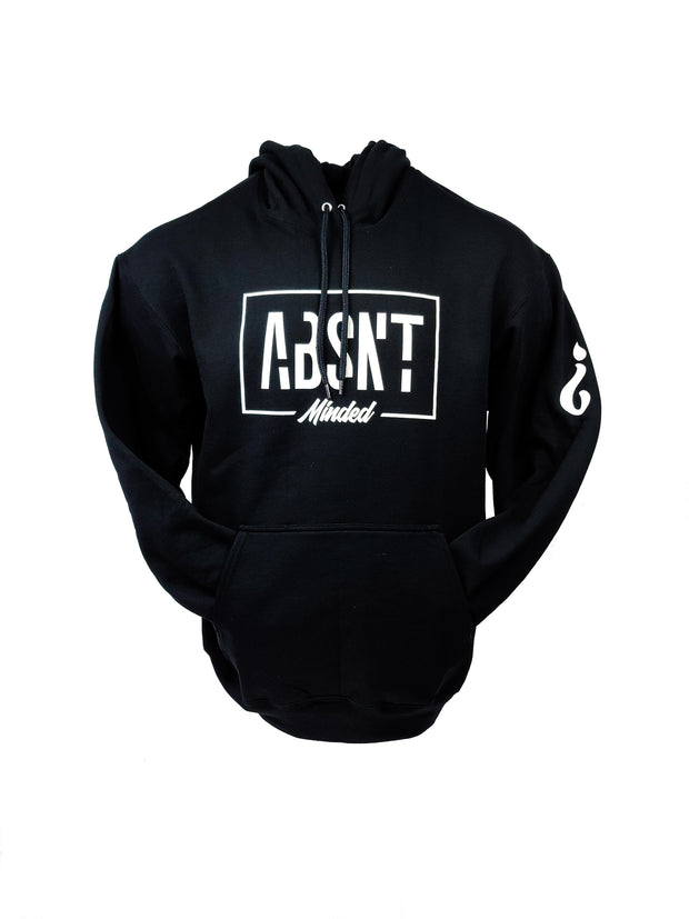 Absnt Minded Black with white print hoodie