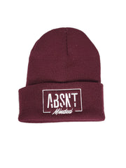 Absnt Minded maroon beanie