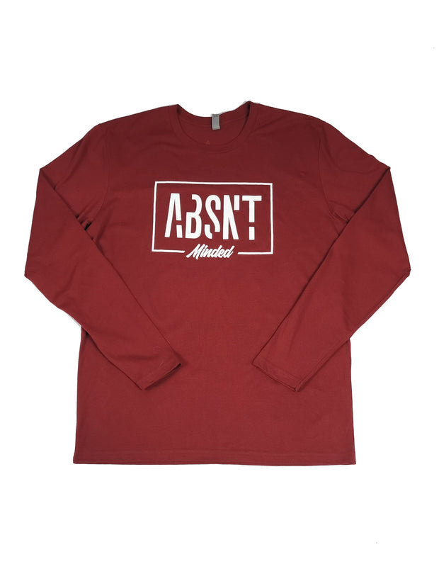 Absnt Minded long sleeve cardinal red t-shirt