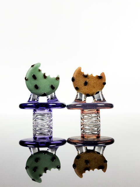 Cookie Spinner caps by Morrison glass