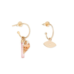 Charms Earrings Rose