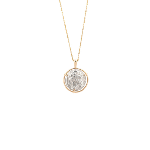 Dionysus Medal Necklace gold chain