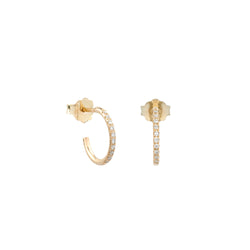 Hemera diamonds hoop earrings