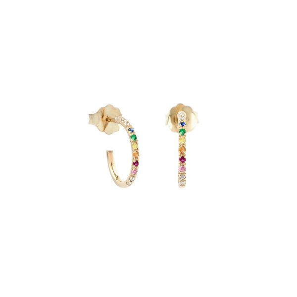 Hemera rainbow hoop earrings