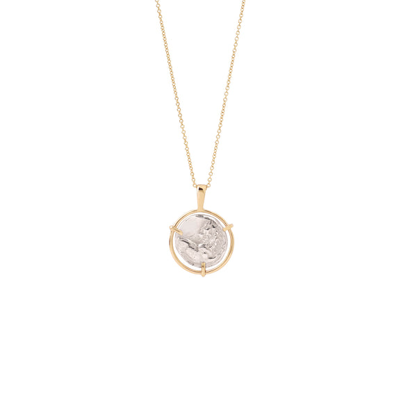 Lion Medal Necklace 9K gold