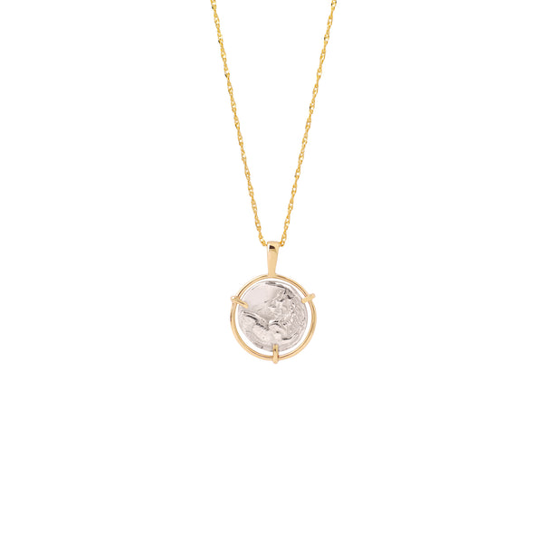 Lion Medal Necklace gold chain