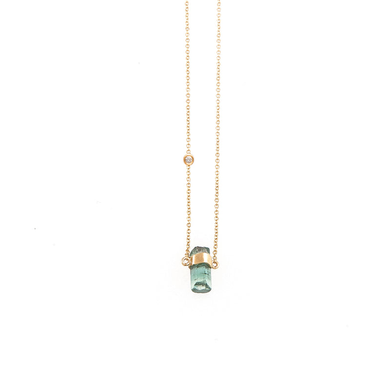 Rainbow Diams Tourmaline (mini) Necklace