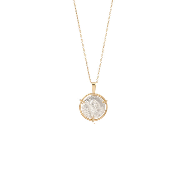 Reversal Appolo Medal Necklace 9K gold