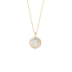 Reversal Appolo Medal Necklace gold chain