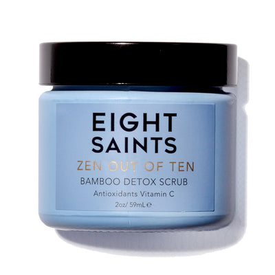 Eight Saints ZEN OUT OF TEN Bamboo Detox Scrub - the best exfoliating bamboo body scrub