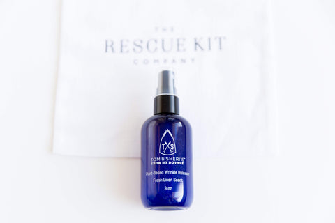Tom and Sheri's Iron In A Bottle wrinkle release spray for The Bride Kit by The Rescue Kit Company