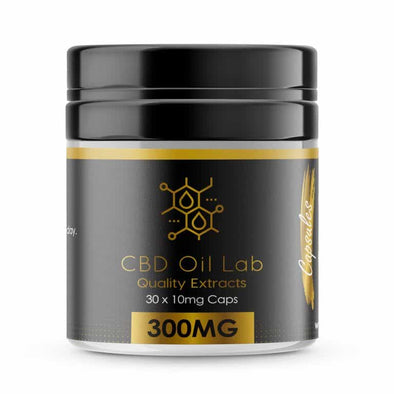 CBD OIL LAB CAPSULES 300MG - 30 X 10MG - The Emporium for CBD Oil